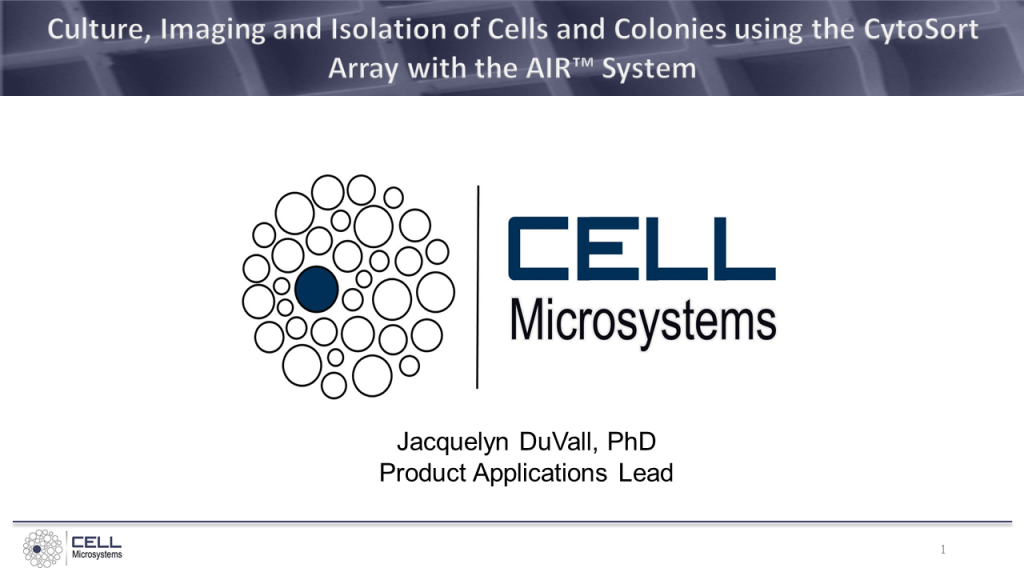 Culture Imaging and Isolation of Cells and Colonies